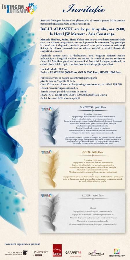 Invitatie Balul Albastru
